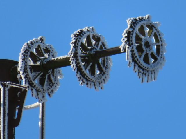 l'axe de l'éolienne de la tour